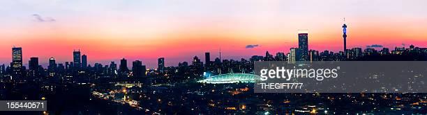 Johannesburg Sunset Skyline Silhouette