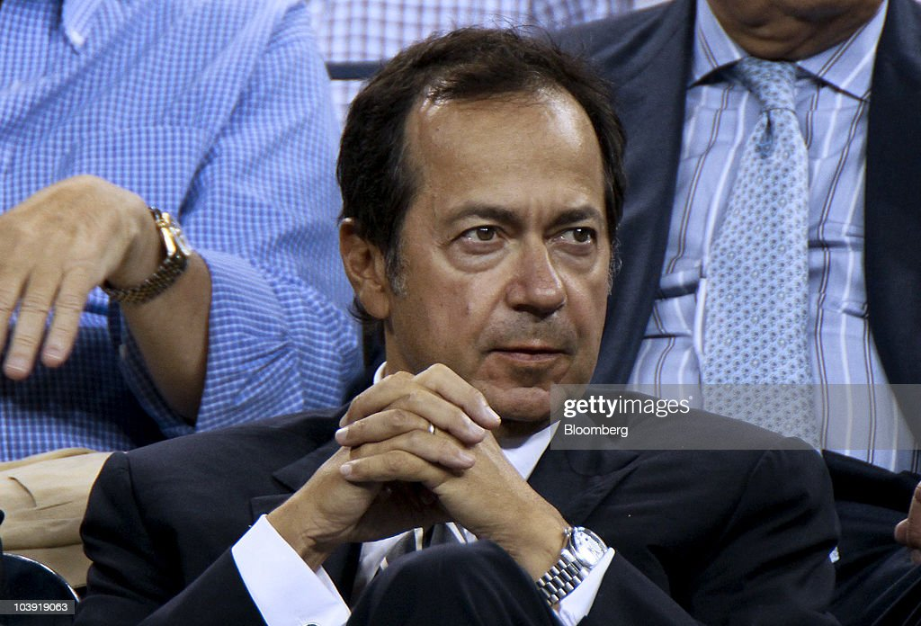 John A Paulson president of Paulson Co attends a US Open match between Venus Williams and Francesca Schiavone at the Billie Jean King National Tennis...