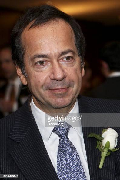 John A Paulson president of Paulson Co attends the UJA Federation of New York's annual Wall Street Dinner in New York US on Wednesday Dec 16 2009...