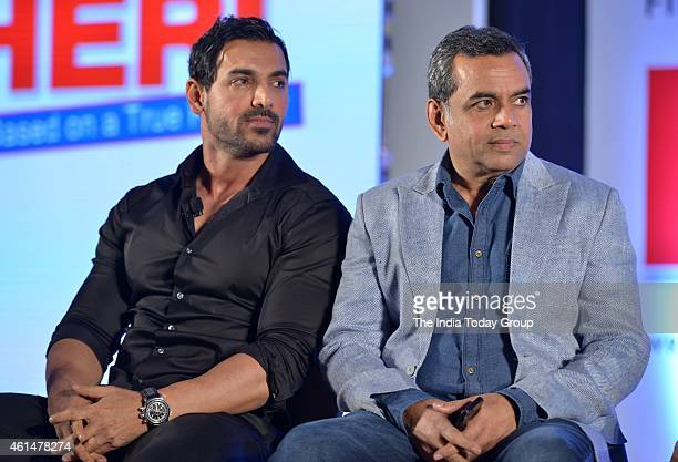 John Abraham and Paresh Rawal at the announcement ceremony of Hera Pheri 3