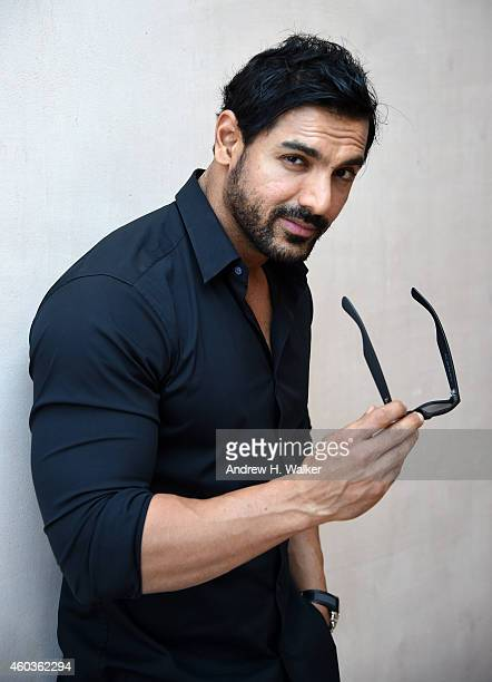 John Abraham poses during a portrait session on day three of the 11th Annual Dubai International Film Festival held at the Madinat Jumeriah Complex...