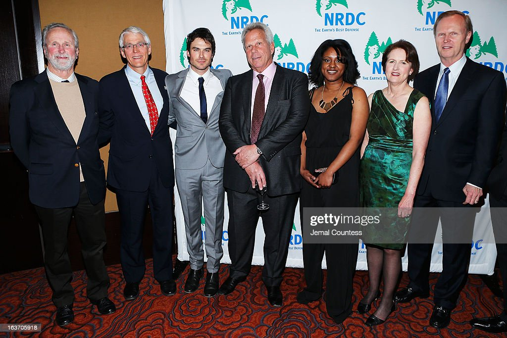 John Adams, Peter Lehner, <a gi-track='captionPersonalityLinkClicked' href=/galleries/search?phrase=Ian+Somerhalder&family=editorial&specificpeople=614226 ng-click='$event.stopPropagation()'>Ian Somerhalder</a>, <a gi-track='captionPersonalityLinkClicked' href=/galleries/search?phrase=Steve+Tisch&family=editorial&specificpeople=235783 ng-click='$event.stopPropagation()'>Steve Tisch</a>, Frances Beinecke, and John Mara attend the 2013 Natural Resources Defense Council Game Changer Awards at the Mandarin Oriental Hotel on March 14, 2013 in New York City.