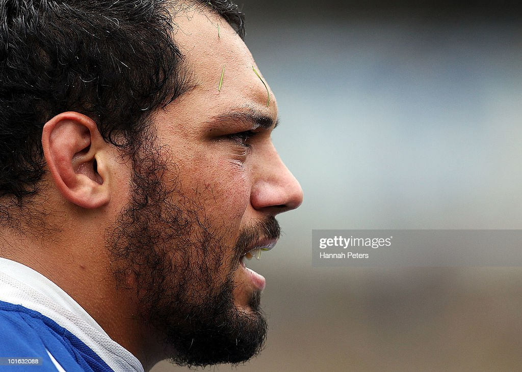 John Afoa of University looks on during the club rugby match between Ponsonby and University at Western Springs Stadium on June 5, 2010 in Auckland, New Zealand.