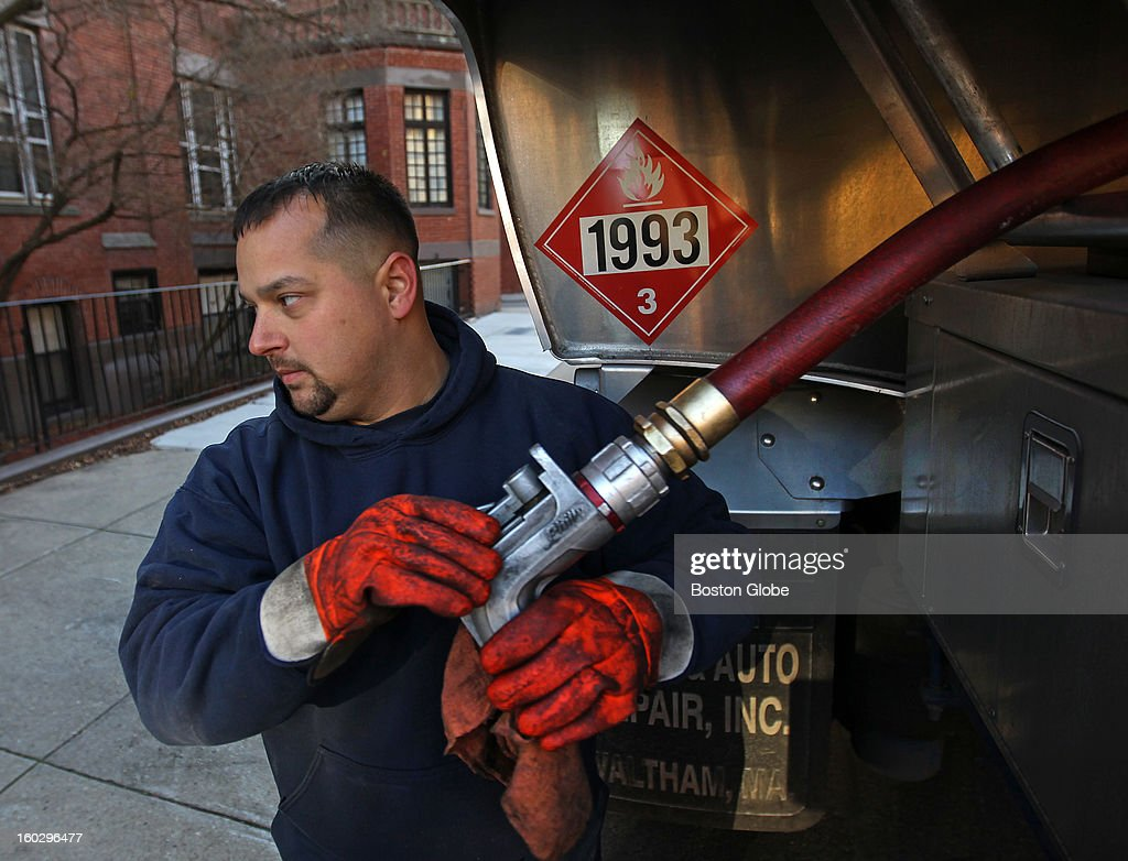 John Alefantis works in Boston delivering heating oil with Cubby Oil. Heating oil use has been dropping for years as the home heating fuel struggles to compete with lower priced natural gas.