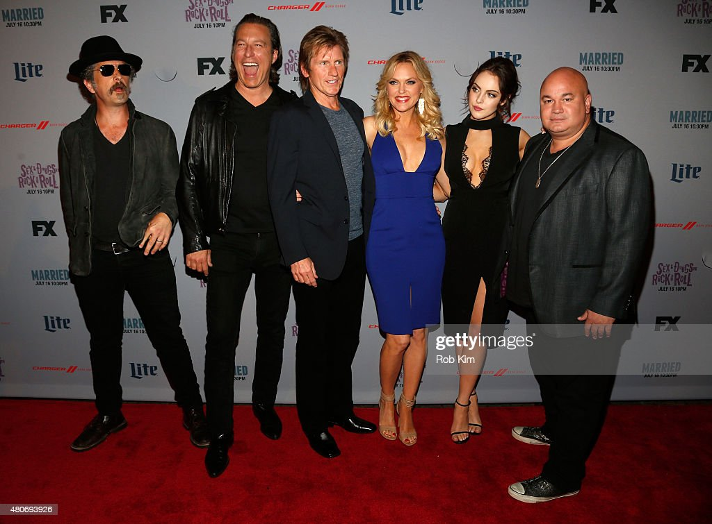 John Ales John Corbett Denis Leary Elaine Hendrix Elizabeth Gillies and Robert Kelly attend the New York Series Premiere of 'SexDrugsRockRoll' at the...