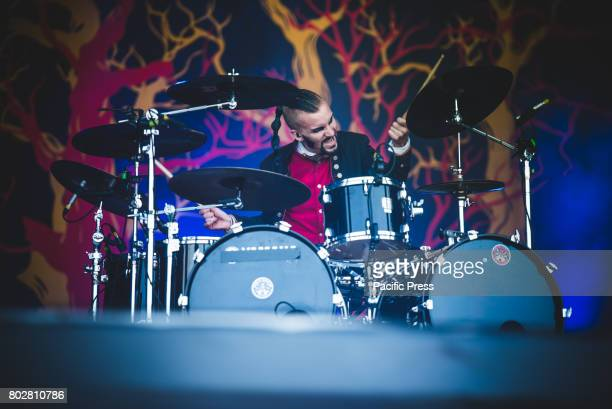 FESTIVAL CLISSON NANTES FRANCE John Alfredsson during performance Avatar performing live at the Hellfest Festival 2017 in Clisson near Nantes