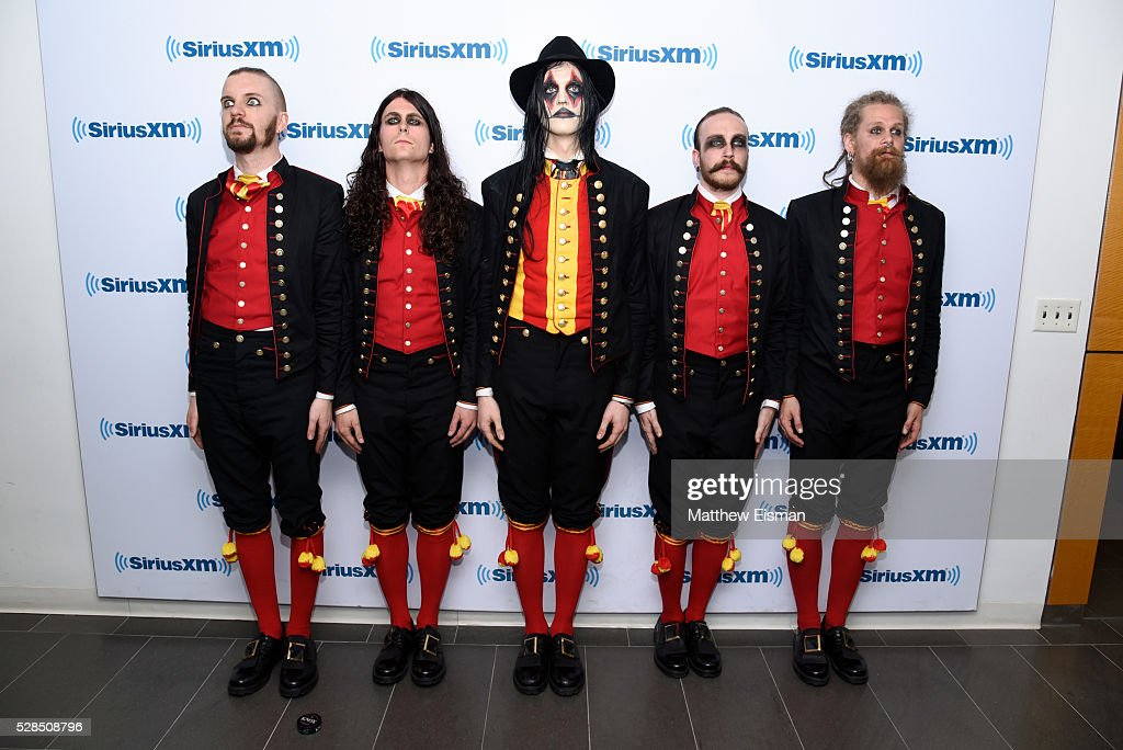 John Alfredsson, Henrik Sandelin, Johannes Eckerstrom, Jonas Jarlsby and Tim hrstrm of the band Avatar visit at SiriusXM Studio on May 5, 2016 in New York City.
