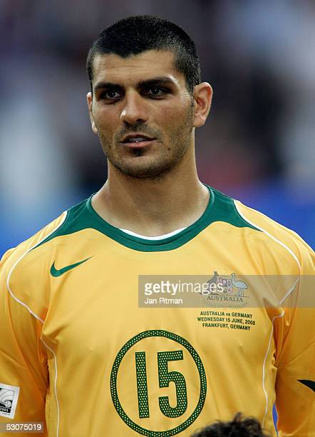 John Aloisi of the Australian National team before the FIFA Confederations Cup 2005 match between Germany and Australia at the Waldstadion Stadium on...