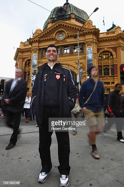 John Aloisi of the Melbourne Heart poses for a portrait during the Melbourne Heart FC ALeague Public Launch at Flinders Street Station on July 30...