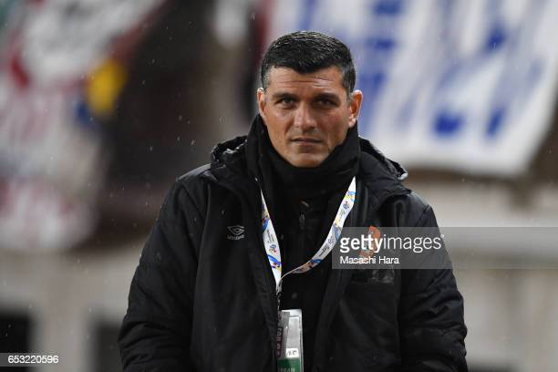 John Aloisicoach of Brisbane looks on prior to the AFC Champions League Group E match between Kashima Antlers and Brisbane Roar FC at Kashima Stadium...