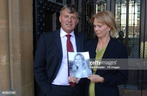 John and Angela Corke stand with a photograph of their daughter Annalie Vickers who was killed in the bomb attack on Sharm El Sheik Egypt in July...