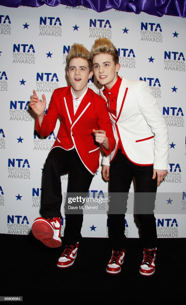 John and Edward Grimes attend the National Television Awards at the O2 Arena on January 20, 2010 in London, England.