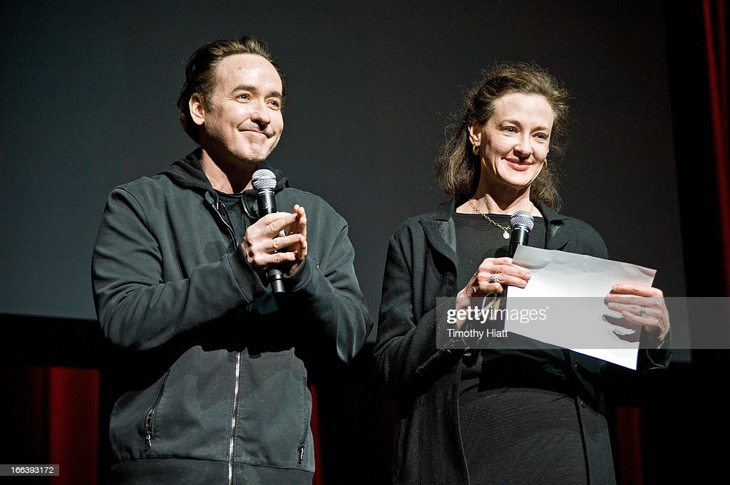 John and <a gi-track='captionPersonalityLinkClicked' href=/galleries/search?phrase=Joan+Cusack&family=editorial&specificpeople=223920 ng-click='$event.stopPropagation()'>Joan Cusack</a> attend the Roger Ebert Memorial Tribute at Chicago Theatre on April 11, 2013 in Chicago, Illinois.