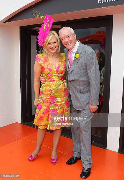 John and KerriAnne Kennerley attend the Emirates marquee during Emirates Melbourne Cup Day at Flemington Racecourse on November 2 2010 in Melbourne...