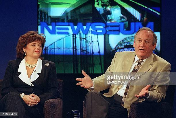 John and Patsy Ramsey whose daughter JonBenet was found murdered in their home nearly four years ago answer questions from journalism students 12...