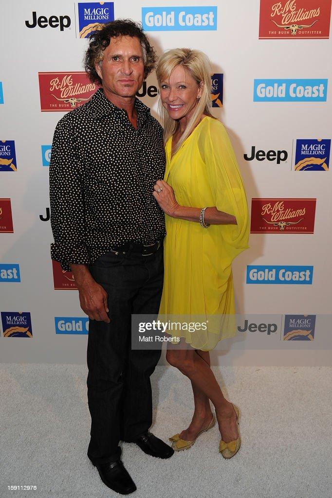 John and Tari Brocklebank pose during the Magic Millions Opening Night cocktail party at Surfers Paradise foreshore on January 8, 2013 in Surfers Paradise, Australia.