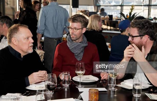 John Anderson Florian Weghorn and John Canciani attend the 2017 Aspen Shortsfest Awards Dinner on April 9 2017 at Aspen Kitchen in Aspen Colorado