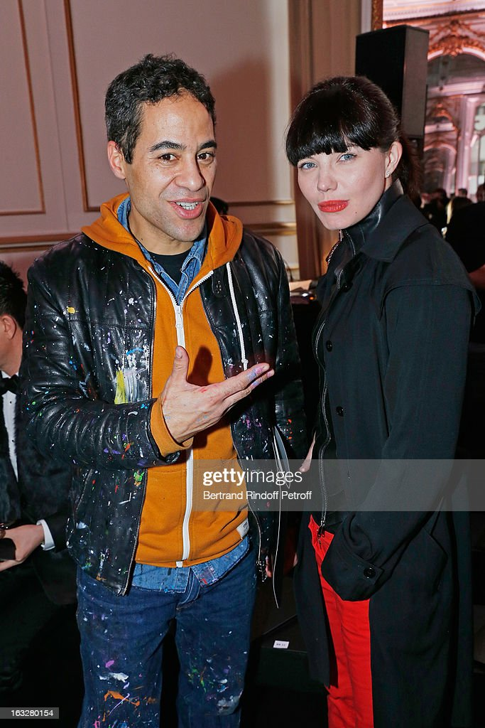 John Andrew Perello, aka JonOne, and Delphine Chaneac attend the Jitrois Fall/Winter 2013 Ready-to-Wear show as part of Paris Fashion Week on March 6, 2013 in Paris, France.