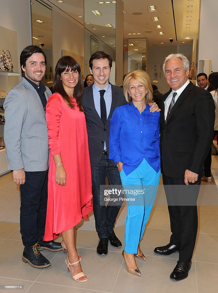 John Anthony Luzi, Nadia Niro, Nicholas Niro, Rosemary Niro and Franco Niro at the opening of Stuart Weitzman Boutique on April 17, 2013 in Toronto Ontario Canada.