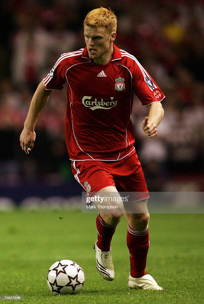 John Arne Riise of Liverpool in action during the UEFA Champions League semi final second leg match between Liverpool and Chelsea at Anfield on May 1, 2007 in Liverpool, England.