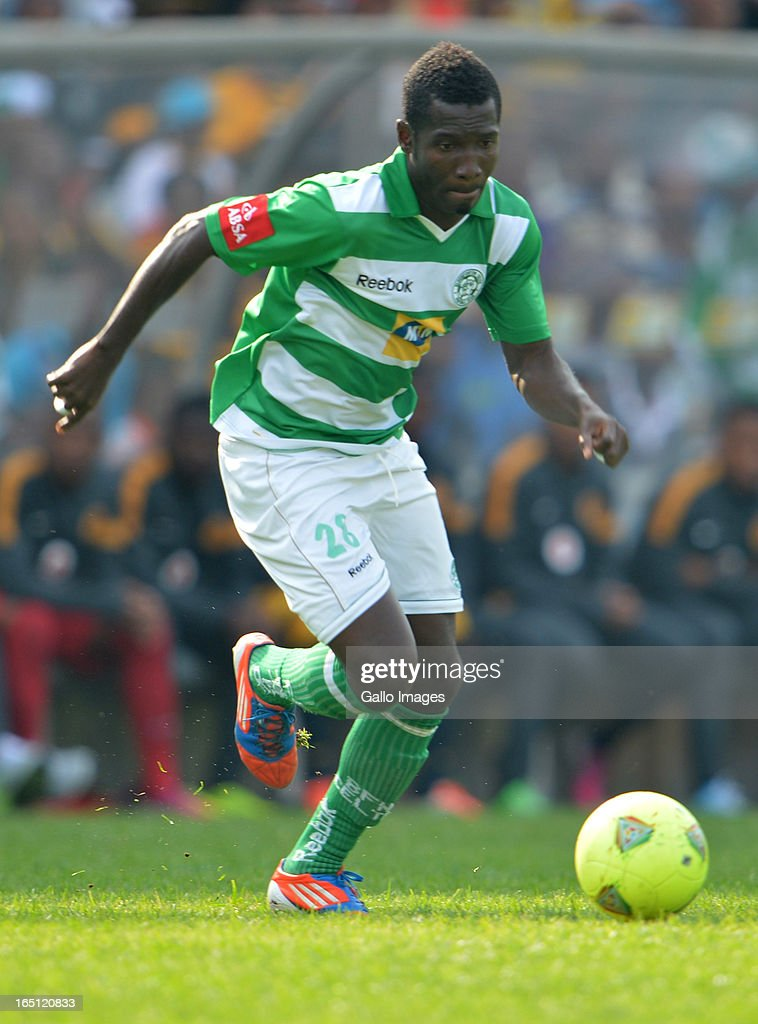 John Arwuah during the Absa Premiership match between Bloemfontein Celtic and Kaizer Chiefs at FNB Stadium on March 31, 2013 in Johannesburg, South Africa.