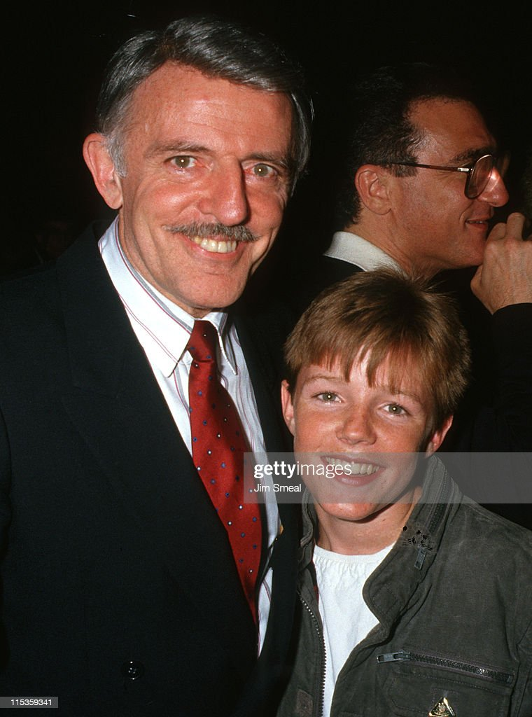 John Astin and <a gi-track='captionPersonalityLinkClicked' href=/galleries/search?phrase=Mackenzie+Astin&family=editorial&specificpeople=1541216 ng-click='$event.stopPropagation()'>Mackenzie Astin</a> during Crossroads School Staged 'Cabaret 87' at Wadsworth Theater in Los Angeles, California, United States.