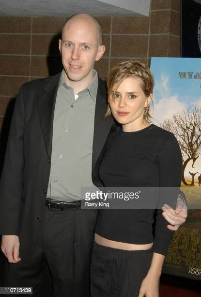John August Screenwriter and Alison Lohman during 2004 Palm Springs Film Festival Opening Night 'Big Fish' Screening at Palm Springs High School in...