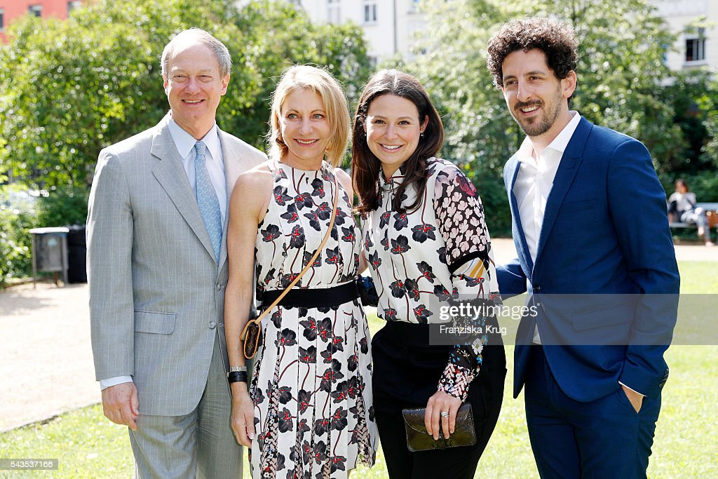 John Amerson, Kimberly Marteau Emerson, <a gi-track='captionPersonalityLinkClicked' href=/galleries/search?phrase=Katie+Lowes&family=editorial&specificpeople=5527804 ng-click='$event.stopPropagation()'>Katie Lowes</a> and Adam Shapiro attend the Dorothee Schumacher show during the Mercedes-Benz Fashion Week Berlin Spring/Summer 2017 at Elisabethkirche on June 29, 2016 in Berlin, Germany.