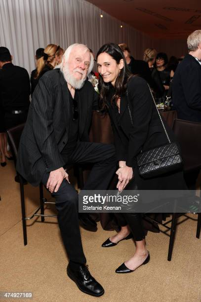 John Baldessari and Bettina Korek attend CalArts Art Benefit And Auction Los Angeles Opening Reception At Regen Projects on February 25 2014 in Los...