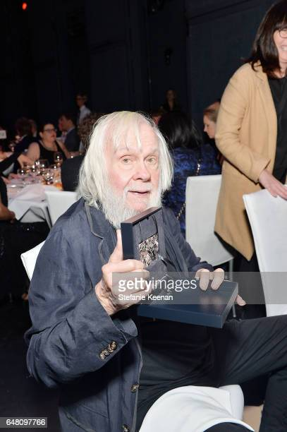 John Baldessari attends 2017 REDCAT Gala Honoring Janet Dreisen Rappaport and John Baldessari on March 4 2017 in Los Angeles California