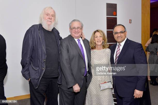 John Baldessari Steven D Lavine Janet Dreisen Rappaport and Ravi Rajan attend 2017 REDCAT Gala Honoring Janet Dreisen Rappaport and John Baldessari...