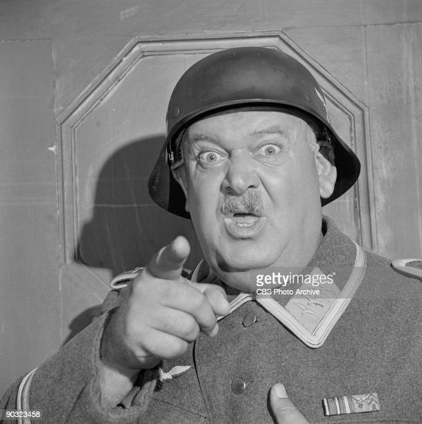 HEROES John Banner as Sgt Hans Georg Schultz in Hogans Hofbrau an episode from the CBS television comedy series 'Hogan's Heroes' October 12 1965
