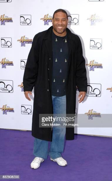 John Barnes arrives for Disney sensation Hannah Montana's debut UK gig at Koko in Camden north London