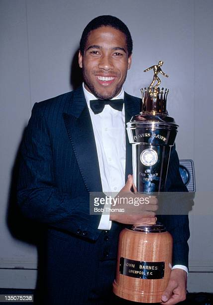 John Barnes of Liverpool with his PFA Player of the Year Award in London on 10th April 1988