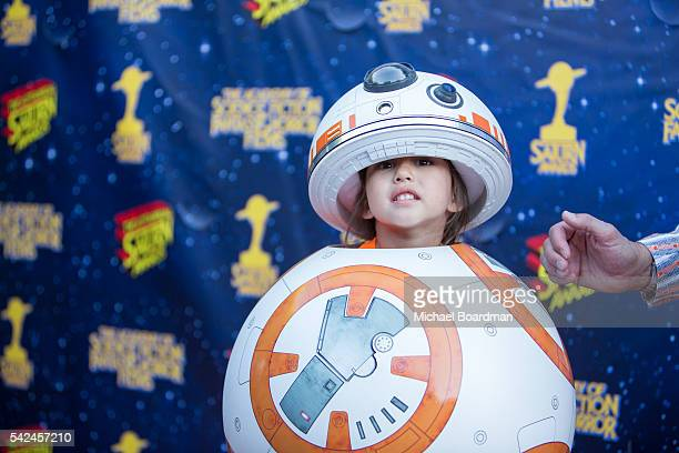 John Barrowman and BB8 attends the 42nd Annual Saturn Awards at The Castaway on June 22 2016 in Burbank California