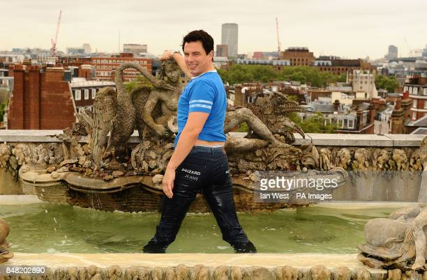 John Barrowman is unveiled as having the male Wizard Jeans Rear Of the Year at the Dorchester Hotel in London