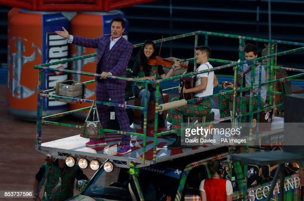John Barrowman performs during the 2014 Commonwealth Games Opening Ceremony at Celtic Park Glasgow
