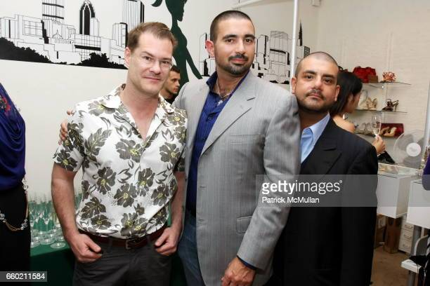 John Bartlett Edward Garou and Joseph Magnone attend SECOND TIME AROUND Store Opening Party at 262 Mott Street on June 23 2009 in New York City