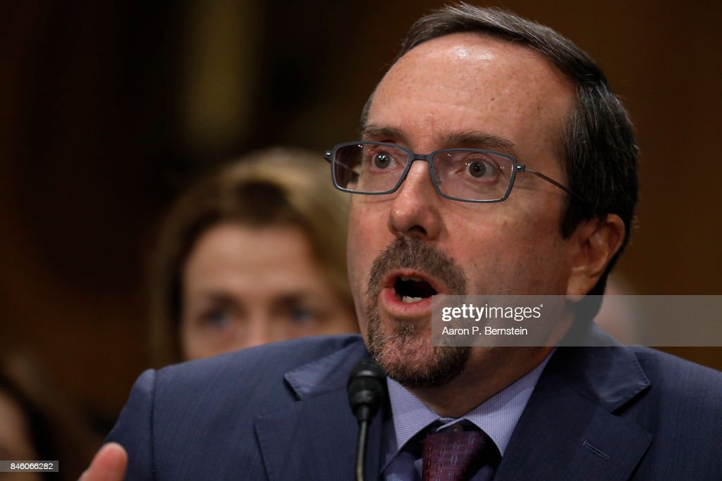 John Bass, nominee to be ambassador to Afghanistan, testifies before the Senate Foreign Relations Committee on Capitol Hill September 12, 2017 in Washington, DC. Bass, formerly ambassador to Turkey, would be tasked with helping to manage the troop buildup recently approved by President Trump.