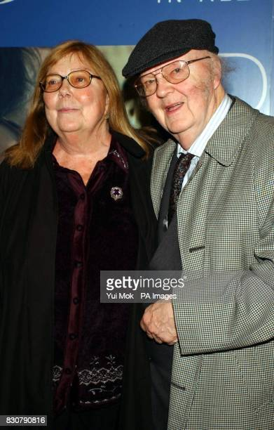 John Bayley husband of the late Dame Iris Murdoch with his new wife Audi during a press reception at the Washington Hotel in central London ahead of...