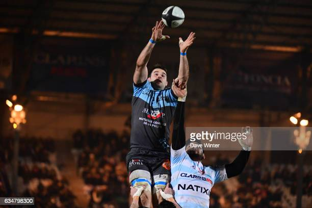 John Beattie of Bayonne and Sootala Faasoo of Racing 92 during the Top 14 match between Racing 92 and Aviron Bayonnais Bayonne on February 11 2017 in...