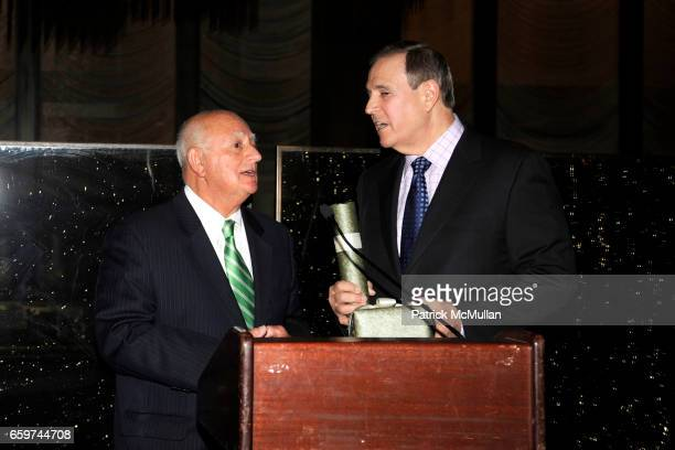 John Beni and Walter Anderson attend PARADE MAGAZINE and SI Newhouse Jr honor Walter Anderson at The 4 Seasons Grill Room on March 31 2009 in New...