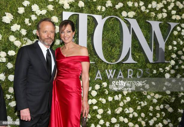 John Benjamin Hickey and Allison Janney attend the 2017 Tony Awards at Radio City Music Hall on June 11 2017 in New York City