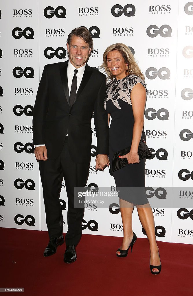 John Bishop and Melanie Bishop attend the GQ Men of the Year awards at The Royal Opera House on September 3, 2013 in London, England.