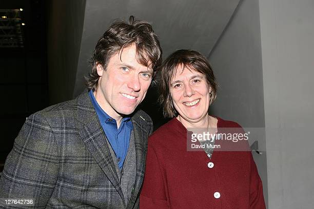 John Bishop and producer Rebecca O'Brien attend the premiere of 'Route Irish' at FACT on March 7 2011 in Liverpool England