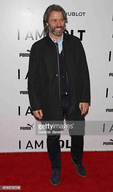 John Bishop attends the World Premiere of 'I Am Bolt' at Odeon Leicester Square on November 28 2016 in London England