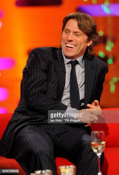 John Bishop during filming of the New Year's Eve edition of the Graham Norton show filmed at the London Studios London