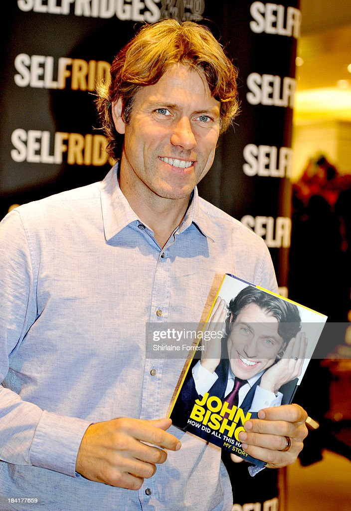 John Bishop meets fans and signs copies of his book 'How Did All This Happen? My Story' at Selfridges on October 11, 2013 in Manchester, England.