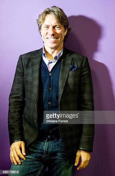 John Bishop poses backstage after meeting fans and signing copies of his new DVD 'Supersonic' at HMV on November 21 2015 in Liverpool United Kingdom