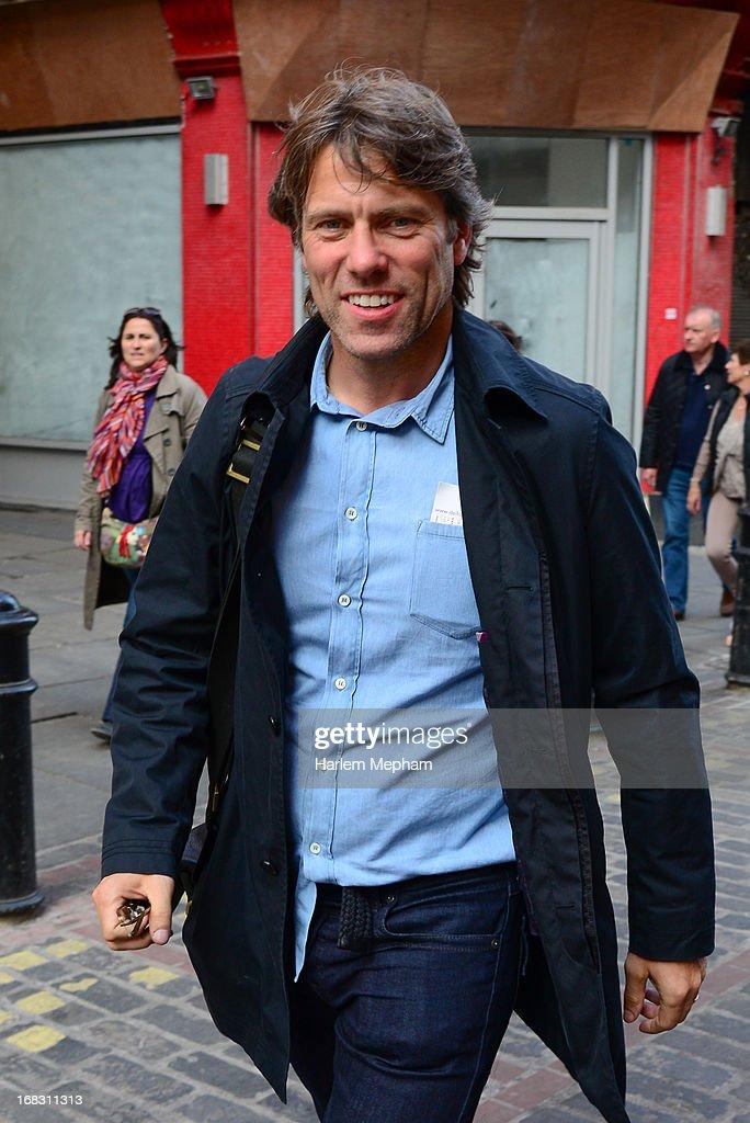 John Bishop sighted walking in Soho on May 8, 2013 in London, England.